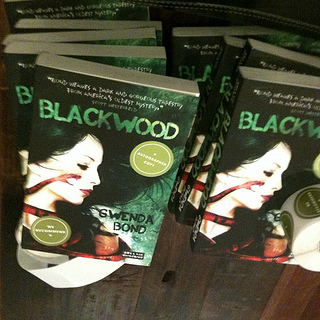 Stopped by to see the wonderful Kate Milford at McNally Jackson. NYC peeps, get signed Blackwood copies there.